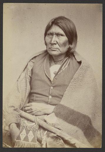 Comanche Chief Horseback [Tuh-huh-yet, Nau-qua-hip, Champion Rider]. Date: 1869–1874. Culture: American. Object number: 84.XM.192.24.