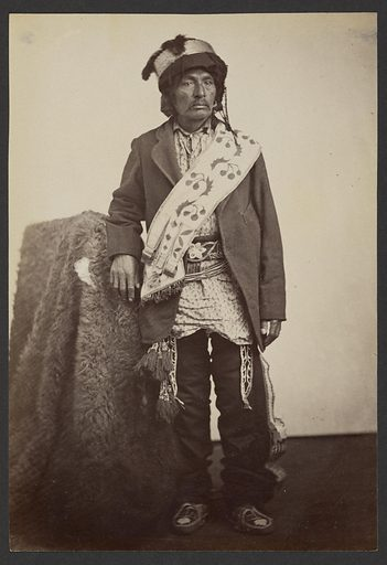 George Washington Caddo, Principal Chief. Date: 1869–1874. Culture: American. Object number: 84.XM.192.26.
