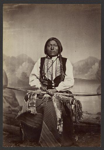 Kiowa Brave in War Dress. Date: 1869–1874. Culture: American. Object number: 84.XM.192.30.