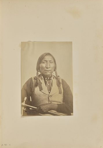 Kiowa Prominent Chief Lone wolf [Gui-pah-go]. Date: 1869–1874. Culture: American. Object number: 84.XM.192.31.