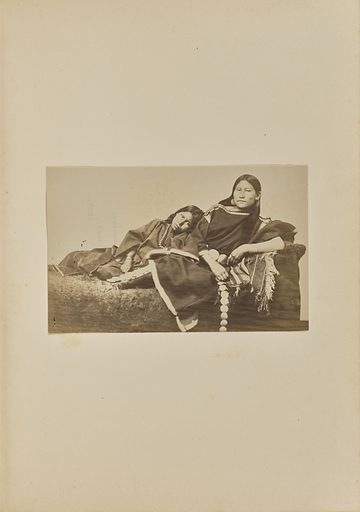 Arapahoe Chief's Daughters: Baetha and Sister [also known as Zah-e-cha and Har-ke-i]. Date: 1869–1874. Culture: American. Object number: 84.XM.192.34.
