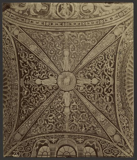 Ceiling mosaic, San Vitale, Ravenna. Date: about 1870–1890. Culture: Italian. Object number: 84.XP.709.125.