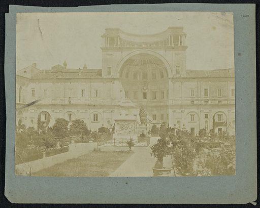 Cortile della Pigna, Vatican. Date: about 1850–1860. Culture: Italian. Object number: 84.XP.726.66.