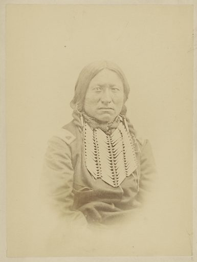 Kicking bird, Kiowa Chief. Date: 1869–1874. Culture: American. Object number: 84.XP.785.5.