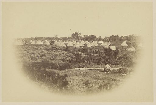 Arapaho Camp, Camp Supply, Indian Territory. Date: 1868. Culture: American. Object number: 84.XP.785.9.