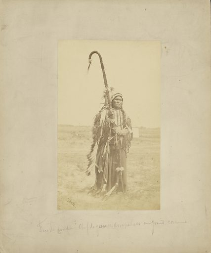 Powder Face, War Chief of the Arapahoes, [In War Dress]. Date: 1869–1874. Culture: American. Object number: 84.XP.785.10.