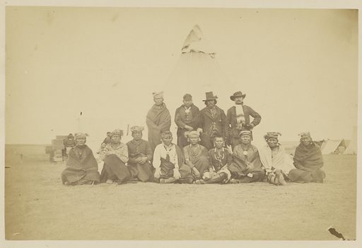 Osage Scouts. My escort from Camp Supply, Indian Territory. Date: 1867–1868. Culture: American. Object number: 84.XP.785.12.