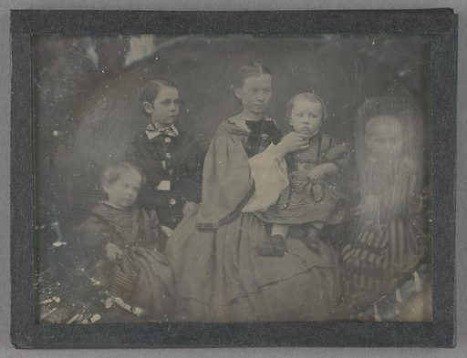Portrait of a woman with Her four Children. Date: about 1858. Culture: German. Object number: 84.XT.268.2.