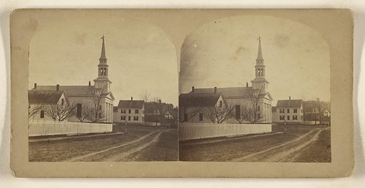 West Lebanon Congregational Church, Lebanon, New Hampshire. Date: 1860s. Culture: American. Object number: 84.XC.873.9720.