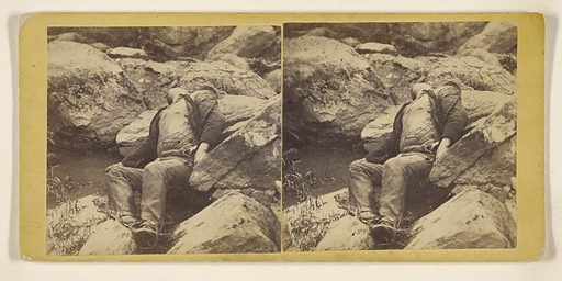 Photographic Incidents of the War. All Over Now – Confederate Sharp-Shooter at Foot of Round Top, Gettysburg. Date: about 1863. Culture: American. Object number: 84.XC.870.9.