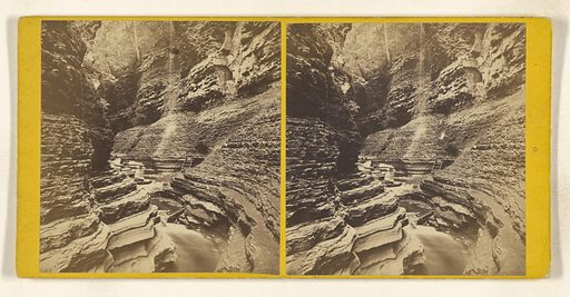 The Narrow Pass. [Freer's Glen, Watkins, Schuyler Co Section Fifth – Glen Difficulty, New York]. Date: about 1865. Culture: American. Object number: 84.XC.979.4327.