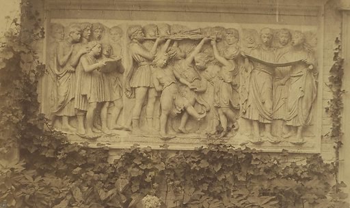 Bas-relief in Marble on Garden wall with Ivy-vine Border. Date: about 1853. Culture: French. Object number: 84.XO.1279.33.
