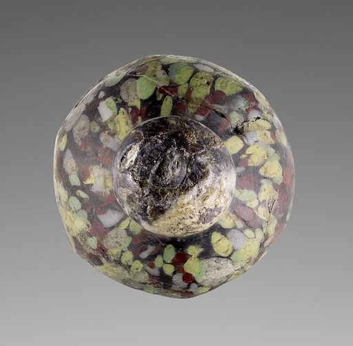 Opaque Mosaic Flask. Date: 11th–12th century. Culture: Byzantine or Islamic. Object number: 2003.466.