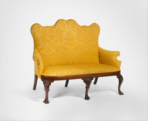Settee (1740–60). American. Made in Philadelphia, Pennsylvania, Mid-Atlantic, United States. Accession number: 25.115.1.