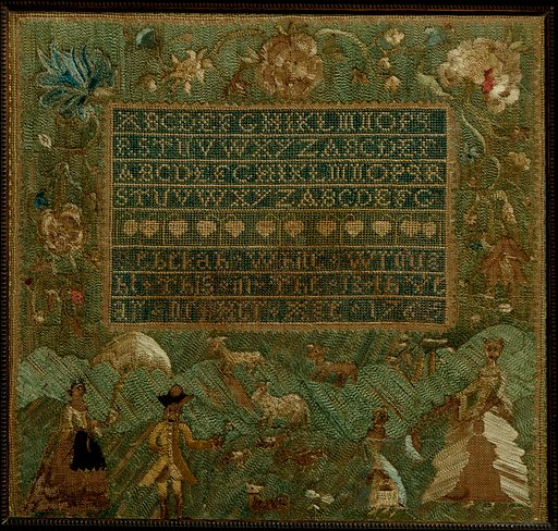 Embroidered Sampler. Date: 1766. American. Made in Salem, Massachusetts, New England, United States. Accession number: 19843318.