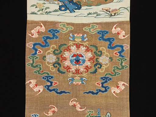 One of a Pair of Chair Strips with Auspicious Patterns. Date: 18th century, Qing dynasty (1644–1911). China. Accession number: 652101.