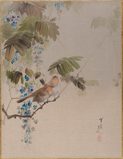Birds and Flowers (ca 1887). Meiji period (1868–1912). Japan. Accession number: 14.76.61.41.