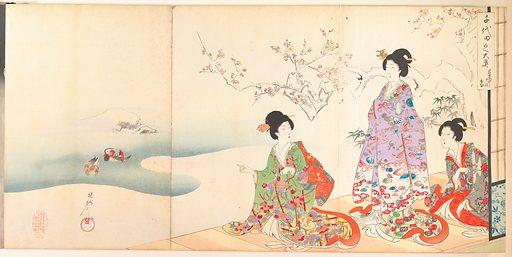 Chiyoda Castle (Album of Women) (1895). Meiji period (1868–1912). Japan. Accession number: JP3557.