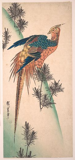 Pheasant and Pine-trees on Snowy Hillside. Date: Edo period (1615–1868). Japan. Accession number: JP1896.