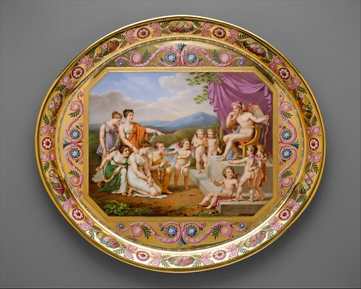 Tray (plateau), part of Breakfast Service (déjeuner). Date: 1813. Accession number: 56291.