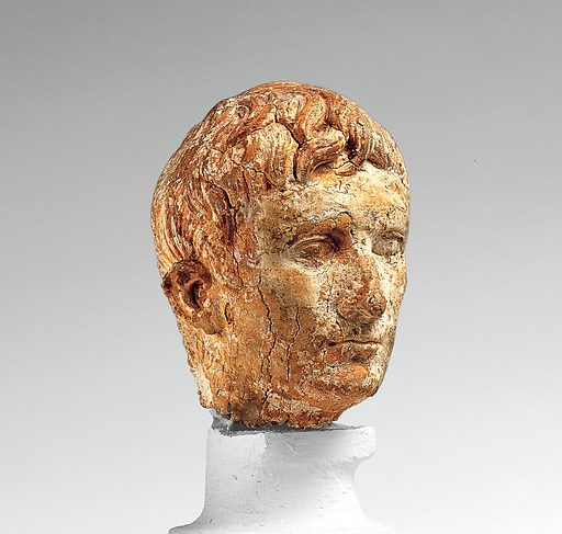 Ivory portrait head of the emperor Augustus (ca 27 BC–AD 14). Early Imperial, Augustan. Roman. Accession number: 23.160.78.