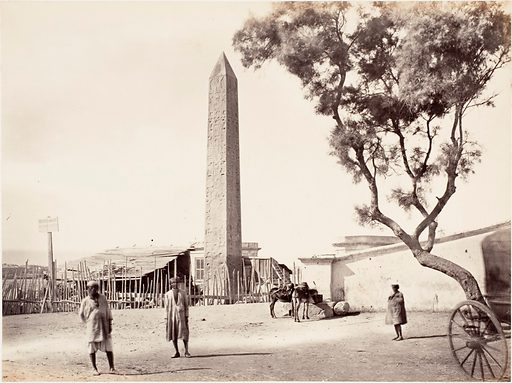 """[Egyptian Obelisk, """"Cleopatra's Needle,"""" in Alexandria, Egypt] (ca 1870). Accession number: 2004.217."""