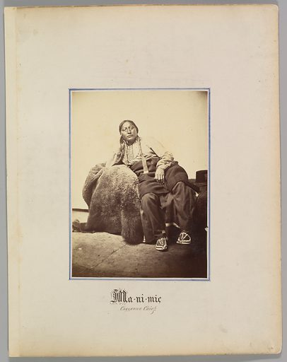 Ma-ni-mic, Cheyenne Chief. Date: 1869–74. Accession number: 20051001245.