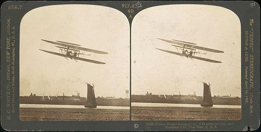 [Group of 3 Sterograph Views of Aviation, including the Wright Brothers] (1900–1929). Accession number: 1982.1182.205–.207.