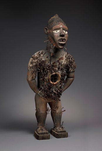 Power Figure (Nkisi N'Kondi: Mangaaka) (19th century). Kongo peoples, Yombe group. Chiloango River region, Republic of the Congo or Cabinda, Angola. Accession number: 2008.30.