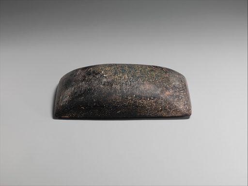 "Model of a ""plano-convex"" brick. Date: ca 2112–2004B. C, Ur III. Neo-Sumerian. Accession number: 59412."