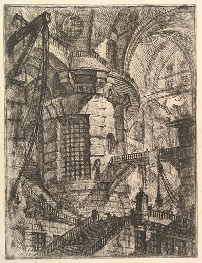 """The Round Tower, from """"Carceri d'invenzione"""" (Imaginary Prisons). Date: ca 1749–50. Accession number: 37453(27)."""