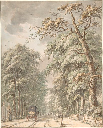 The Amstelveen Road from Amsterdam towards Amstelveen (mid-18th–late 18th century). Accession number: 2000.10.