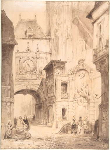 Rue du Gros Horloge, Rouen (early 19th century). Accession number: 2000.107.
