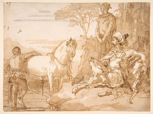 An Oriental Chieftain Resting (1727–1804). Accession number: 35.42.1.