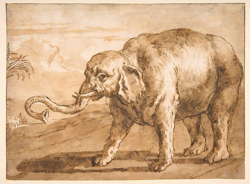 Elephant in a Landscape (1727–1804). Accession number: 60.12.
