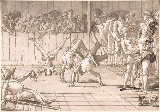Scene of Contemporary Life: The Acrobats (1727–1804). Accession number: 68.54.4.