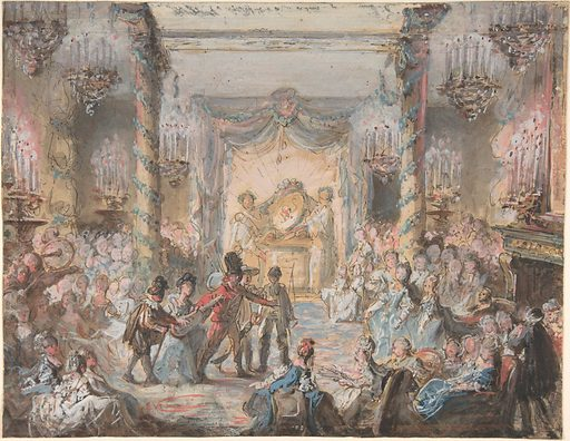 Theatrical Divertissement Offered at a Gala Evening Party (18th century). Accession number: 1978.12.2.