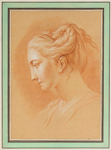 Head of a Young Woman in Profile to Left (n.d.). Accession number: 1987.165.