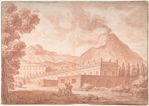 The Palazzo Reale at Pórtici with Vesuvius in the Background (n.d.). Accession number: 1987.95.