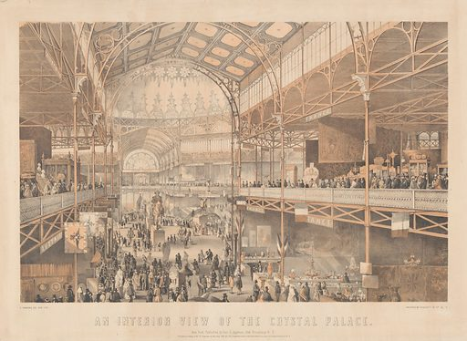 An Interior View of the New York Crystal Palace (1853). Accession number: 54.90.1047.