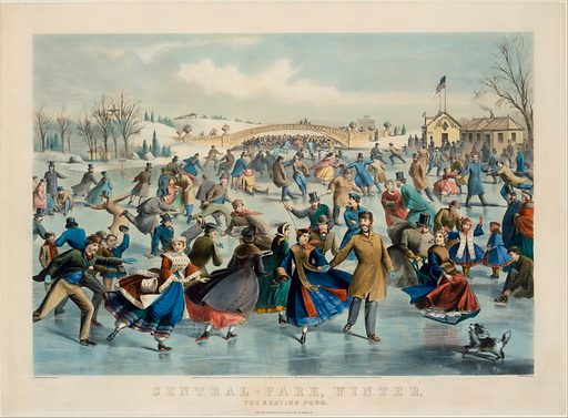 Central Park, Winter – The Skating Pond (1862). Accession number: 63.550.266.