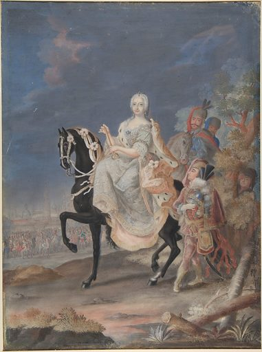 Portrait of a Russian Empress on horseback (18th century). Accession number: 65.251.3.