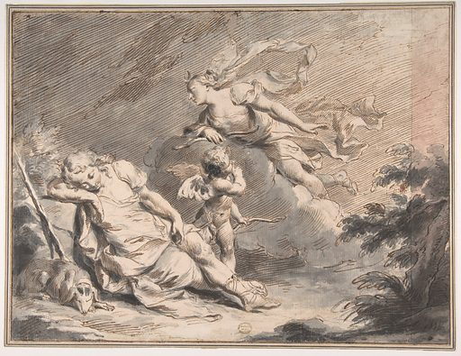 Diana Visiting the Sleeping Endymion (1729–1804). Accession number: 80.3.456.