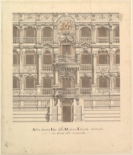 Views of a Theater (Bayreuth): Interior Elevation of the Theater Showing Royal Box (1696–1756). Accession number: 1972.713.53c.
