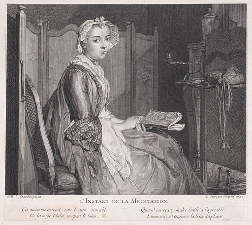 The Moment of Meditation (1747). Accession number: 53.600.514.