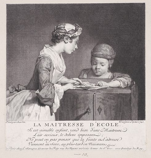 The School Mistress (1747). Accession number: 53.600.515.