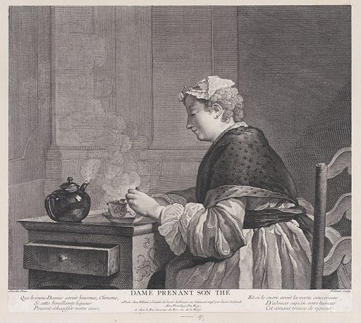 Woman Having Tea (1759). Accession number: 53.600.522.