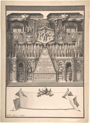Memorial Decoration for the Interior of a Building to Honor the Deceased Ernst Ludwig, 1725 (1702–36). Accession number: 1990.1144.1.