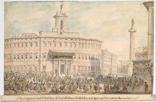 The Lottery in Piazza di Montecitorio (1743–1744). Accession number: 68.53.