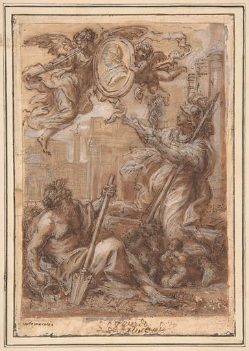 Rome and the Tiber Paying Homage to a Pope (Clement XI ?) (1625–1713). Accession number: 1977.312.